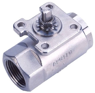 "76-AR8-64 2"" STAINLESS ACTUATOR READY BALL VALVE WITH STEAM TRIM MODEL #: 76AR864"