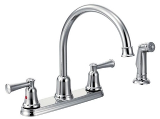 CA41613 CFG CAPSTONE TWO-HANDLE HIGH ARC KITCHEN FAUCET W/SPRAY CHROME