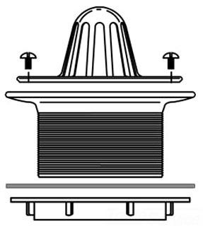 1303 URINAL BEEHIVE STRAINER (K9183 R463 WR907 1303)