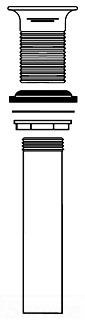 PRODRAIN McGUIRE 1-1/4X6 CAST BRASS GRID STRAINER LESS OVERFLOW CHROME