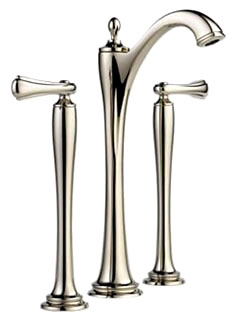 65485LF-PNLHP Polished Nickel Brizo Charlotte: Two Handle Widespread Vessel Lavatory Faucet - Less Handles