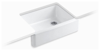 "K6487-0 WHITEHAVEN UNDER COUNTER 30"" TALL APRON FRONT SINK"