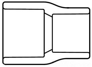 "4500-1206 1-1/4""X 3/4"" SCH 80 PVC SOC REDUCER (829-167) (SPEARS) 039923150424"