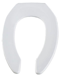 295CT-000 WHITE EB OPEN FRONT LESS COVER CHECK HINGE TOILET SEAT