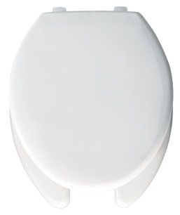 390TL-000 CHURCH EB OPEN FRONT WITH COVER WHITE TOILET SEAT