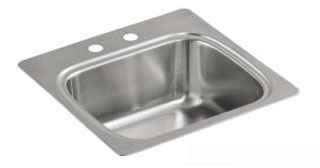 $$$ K3382-2-NA VERSE ENTERTAINMENT SINGLE BASIN SS SINK