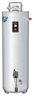 "$$$ 25X78B-3N BRADFORD WHITE 25 GALLON, 78,000BTU NAT. 4"" FLUE GAS WATER HEATER WITH T&P VALVE"