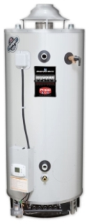 "D-75T-160-3N 75 Gallon NG 6"" FLUE 160000 BTU GAS WATER HTR WITH T&P"