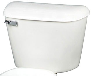 """125-00 MANSFIELD 14"""" ROUGH-IN TOILET TANK 1.6GPF WHITE used on 130, 135, 137, 117, bowls"""