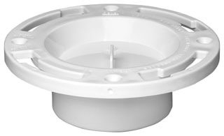 "43507 OATEY 3"" CLOSET FLANGE W/KNOCK OUT FITS INSIDE 3"" PIPE [C50-300 JONES-STEPHENS] PCF136"