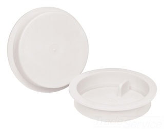 "33463 4""OATEY KNOCK-OUT INSERT TEST CAP (WHITE/ABS)"