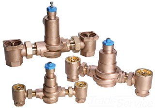 """LFSH1434-1 POWERS SINGLE VALVE HiLo WITH ROUGH BRONZE FINISH , (90-160F) 127 GPM AT 45#PSI, 1 gpm MINIMUM FLOW, 1-1/4"""" INLETS, 1-1/2"""" OUTLET"""