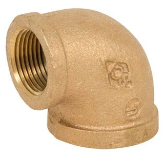 0307-LF-10 1 125 90 ELBOW BRZ NO LEAD BRASS ( LEAD COMPLIANT)
