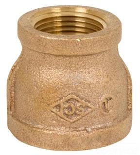 0300-LF-2014 2 X 1-1/2 125 R CPLG BRZ NL BRASS ( LEAD COMPLIANT)