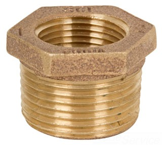 0318-LF-0603 3/4X3/8 125 HEX BUSHING BRZ NL BRASS ( LEAD COMPLIANT)