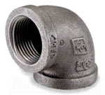 "3/8"" 90 Degree Elbow - Black Malleable Iron"