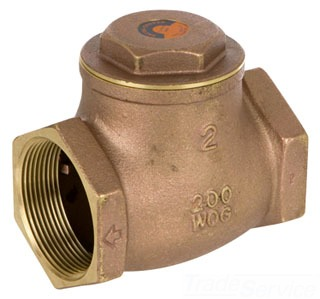 "173 9191LL SC IPS 1-1/4"" SWING CHECK VALVE (LOW LEAD), 200# WOG"