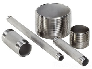 "SSN-0350-304 3/8X5"" TYPE 304 STAINLESS STEEL NIPPLE"