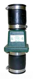 "30-0151 ZOELLER 2"" CAST IRON CHECK VALVE WITH RUBBER BOOT CONNECTION"
