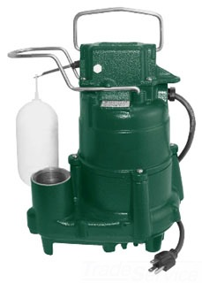 "98-0001 ZOELLER M98 AUTOMATIC SUBMERSIBLE SUMP PUMP 1-1/2"" DISCHARGE 1/2HP,115/1/60, W/15' CORD. * 3-yr Warranty from date of MFG"