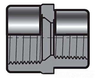 "4500T-2014 2X1-1/2"" SCH 80 PVC THD REDUCER COUPLING 830-251SR SPEARS"