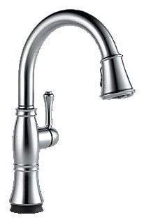 9197T-AR-DST Arctic Stainless Delta Cassidy: Single Handle Pull-Down Kitchen Faucet With Touch2O(R) Technology