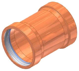 "2-1/2"" Copper Coupling without Stop"