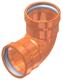"4"" Copper Press 90 Elbow"