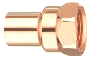"3/8"" Fitting Female (FIP) Adapter - Copper Sweat"