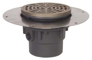 "822-3PNR SIOUX CHIEF HALO DRAIN, 3"" X 4"", ROUND NICKEL BRONZE TOP"