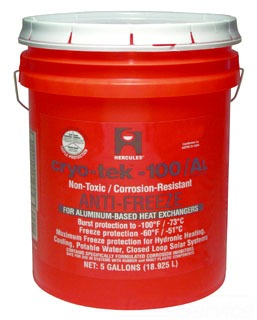 35283 CRYOTEK -100/AL 5GallonBOILER ANTIFREEZE FOR ALUMINUM heat exchangers