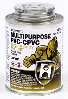 1/2 PT MULTI-PURPOSE PVC-CPVC-ABS HERCULES PLASTIC PIPE CEMENT 60713