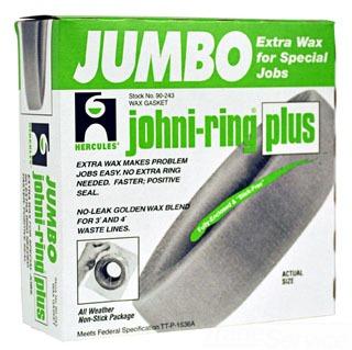 90-243 WAXRING JUMBO JOHNI RING PLUS HERCULES SUPER THICK WAX RING