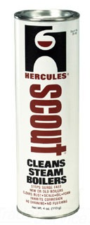 35100 SCOUT BOILER CLEANER, STOPS SURGING POWDER 1-can per 850 sq. ft. EDR