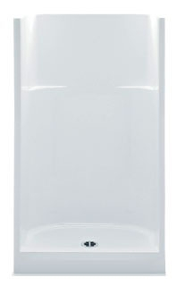 1363CNT-WH AQUATIC 36X36X78 1PC WHT SHOWER ONLY, CENTER DRAIN GELCOAT.