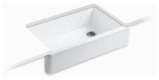 K6489-0 KOHLER WHITEHAVEN UC 36 TALL APRON SINK WHITE SINGLE BOWL