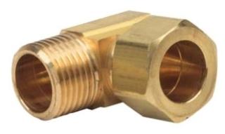 07074LF-03 3/8 OD X 3/8 M COMP ELL (69-6-6X) (Lead Compliant)