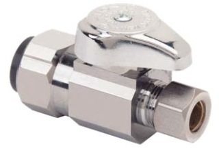 "G2PS14X-C 1/2"" PUSHCON X 3/8OD COMP QUARTER TURN STRAIGHT STOP"
