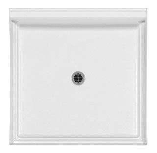3636CPAN-WHT AQUATIC WHITE 36X36 SMC CENTER DRAIN SHOWER PAN ONLY!