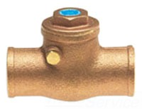 "UP1509/912-10 1"" HAMMOND 125# WSP 300 WOG SWING CHECK VALVE SOLDER END LEAD COMPLIANT"