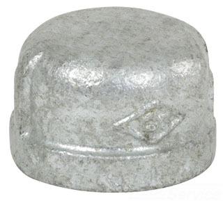 "1/8"" Cap - Galvanized Malleable Iron"