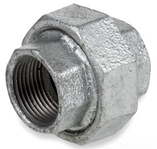"1/4"" Union - Galvanized Malleable Iron"