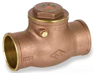 "173 9192LL SC CXC 1-1/4"" SWING CHECK VALVE (LOW LEAD), 200# WOG"