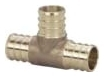 NP11LF-060404 (46433) 3/4X 1/2X 1/2 PEX CRIMP TEE (Lead Compliant)
