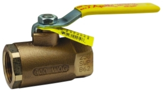 70-106-01 1-1/4 APOLLO 2PC BRONZE IP BALL VALVE 600 WOG STD PORT 150PSI SWG Not approved for Potable Water 2014 MODEL #: 7010601