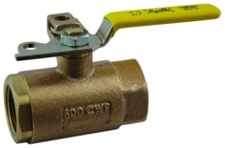 75-108-01 2 APOLLO 2PC BRONZE IP BALL VALVE 600 WOG W/ PAD LOCKING HANDLE STD PORT Not approved for Potable Water 2014 MODEL #: 7510801