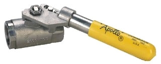 "76-502-01A 3/8"" APOLLO 316 STAINLESS BALL VALVE W/ DEADMAN SPRING RETURN HANDLE MODEL #: 7650201A"
