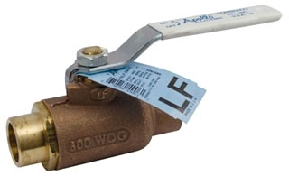 70LF-208-01 2 APOLLO 2PC BRONZE COPPER SWEAT BALL VALVE 600 WOG STD PORT **LEAD FREE** MODEL #: 70LF20801