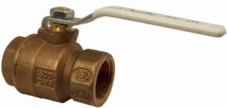 77CLF10301A 1/2 APOLLO 2PC BRONZE IP FULL PORT BALL VALVE 600 WOG LEAD FREE