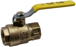 "77F10727 CONBRACO 1-1/2"" FULL PORT BALL VALVE, FORG BRS, LATCH LOCK"